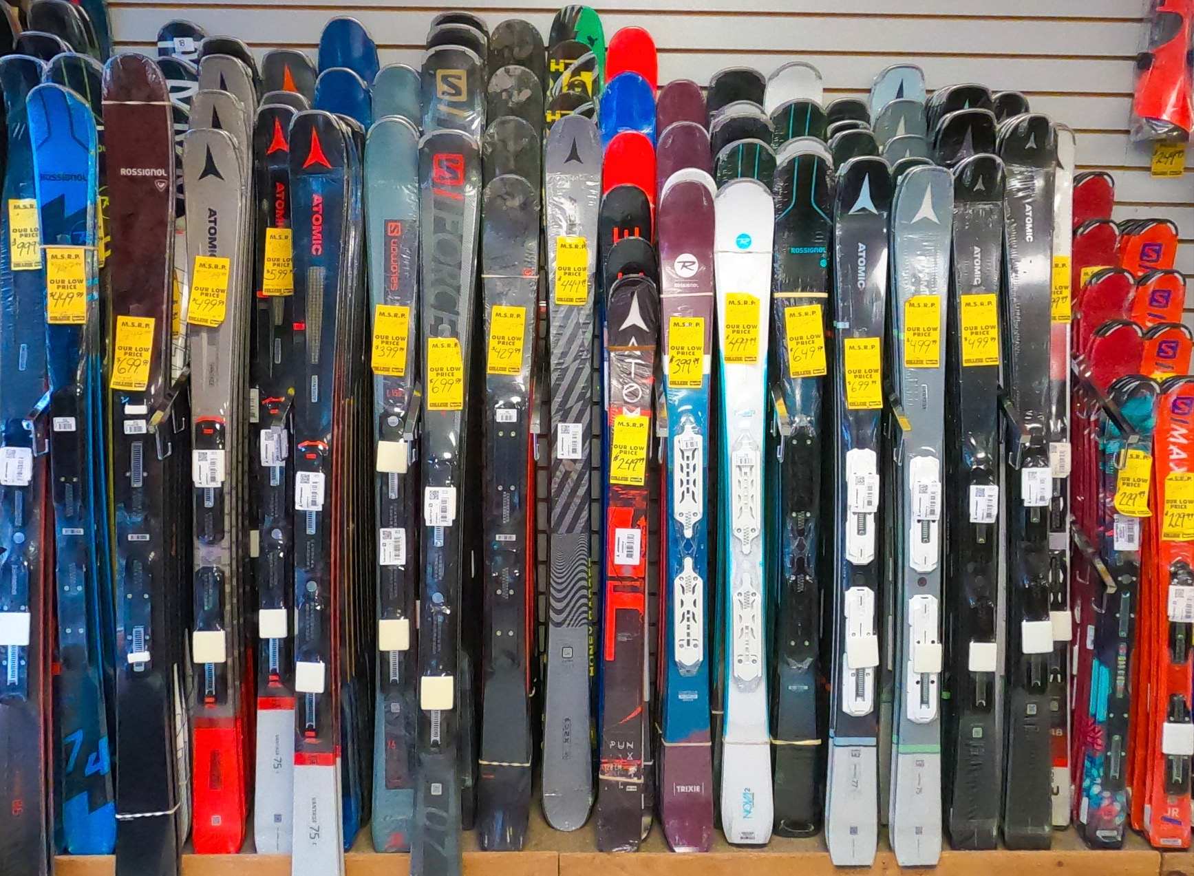 Skis for sale at College Sports